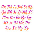 hand lettering alphabet calligraphy font vector image vector image