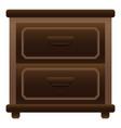 Home nightstand icon cartoon style