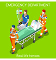Hospital 22 People Isometric vector image vector image