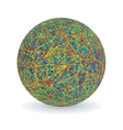 Isolated Multicolored Yarn Ball Image vector image
