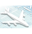 Isometric Frozen Airplane in Front View vector image vector image