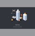 isometric view wireless city composition vector image vector image