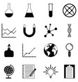 lab icon set vector image
