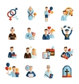 Life Stages Icons Set vector image vector image