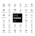 line icons set education vector image vector image