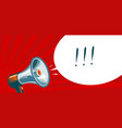loudspeaker megaphone bullhorn advertising vector image