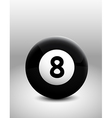 Number 8 ball vector image