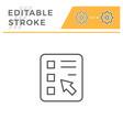 online survey editable stroke line icon vector image vector image
