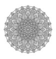 ornamental mandala printable round pattern vector image