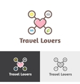 outline travel agency logotype vector image vector image