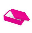 packaging top view open empty pink shoe vector image vector image