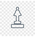 podium concept linear icon isolated on vector image