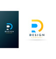 premium r logo beautiful logotype vector image vector image