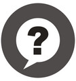 question mark sign icon vector image vector image