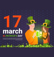 saint patrick day template background with man vector image
