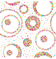Seamless abstract pattern with circles and chaotic vector image vector image