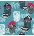 Seamless background with cute owls vector image