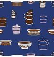seamless pattern mongolian vector image