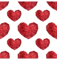 Seamless pattern with geometric hearts of vector image