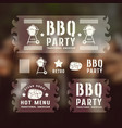 set barbecue labels and banners vector image