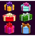 Set of Cartoon colorful gift boxes vector image vector image