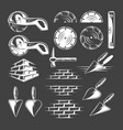 set vintage work tools vector image