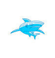 shark logo identity design outline isolated vector image vector image