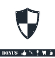 Shield icon flat vector image vector image