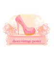 shoes vintage abstract poster vector image vector image