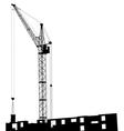 Silhouette cranes vector image