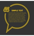 Square quote text bubble vector image vector image