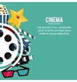 star glasses clapboard movie icon graphic vector image vector image