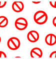 stop sign icon seamless pattern background vector image