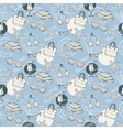 Summer blue pattern vector image vector image