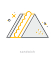 Thin line icons Sandwich vector image vector image