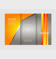 tri-fold brochure templatecorporate business back vector image vector image