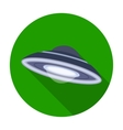 UFO icon in flat style isolated on white vector image vector image