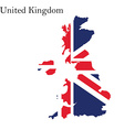 Uk map flag vector image