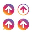 Upload sign icon Upload button vector image vector image
