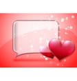 Valentine speech bubble card vector image vector image