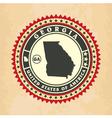 Vintage label-sticker cards of Georgia vector image vector image