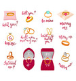 wedding rings marriage proposal merry me vector image