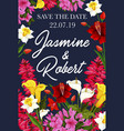 wedding save date banner for invitation card vector image vector image