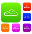 wet cloud set color collection vector image vector image