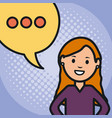 woman and speech bubble with consecutive points vector image vector image
