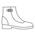 woman boots icon thin line vector image vector image