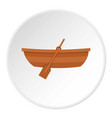 wooden boat icon circle vector image vector image