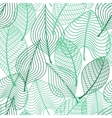 Foliage green leaves seamless pattern vector image