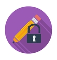 Lock for editing single icon vector image