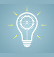 simple light bulb conceptual icon with gear vector image
